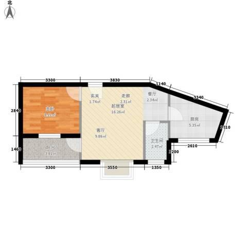 翡翠园1室0厅1卫1厨41.00㎡户型图