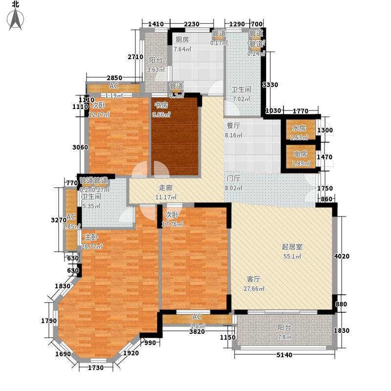 置城8号公馆179.54㎡置城8号公馆户型图A户型标准层H14室2厅2卫户型4室2厅2卫