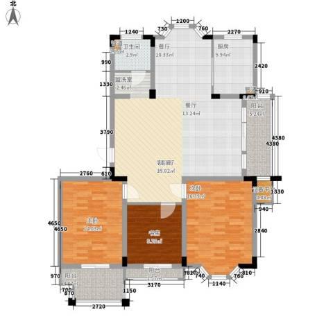 莱茵苑3室1厅1卫1厨119.00㎡户型图