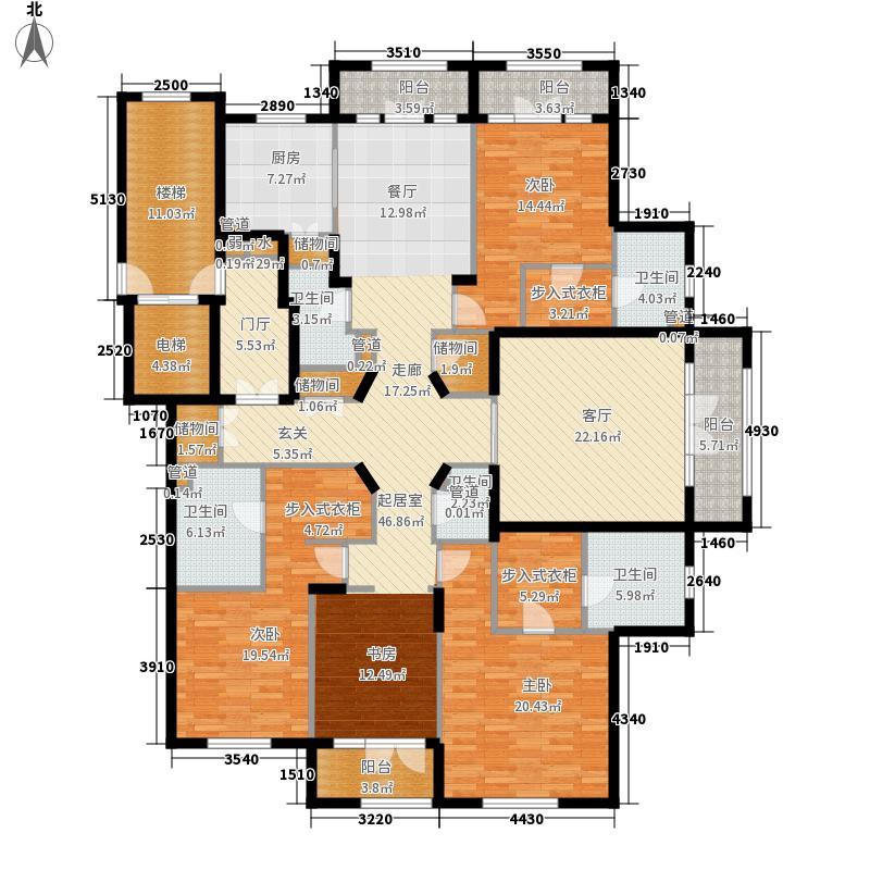 运河一品236.27㎡运河一品户型图5、9号楼的301室、6、10号楼的304室户型4室3厅4卫1厨户型4室3厅4卫1厨