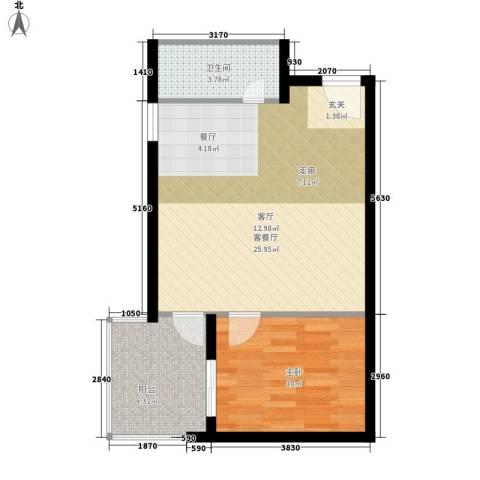 阳光山海湾1室1厅1卫0厨53.00㎡户型图