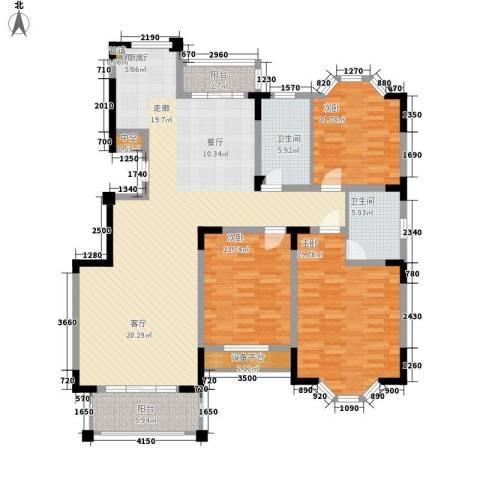 莱茵苑3室1厅2卫0厨140.00㎡户型图