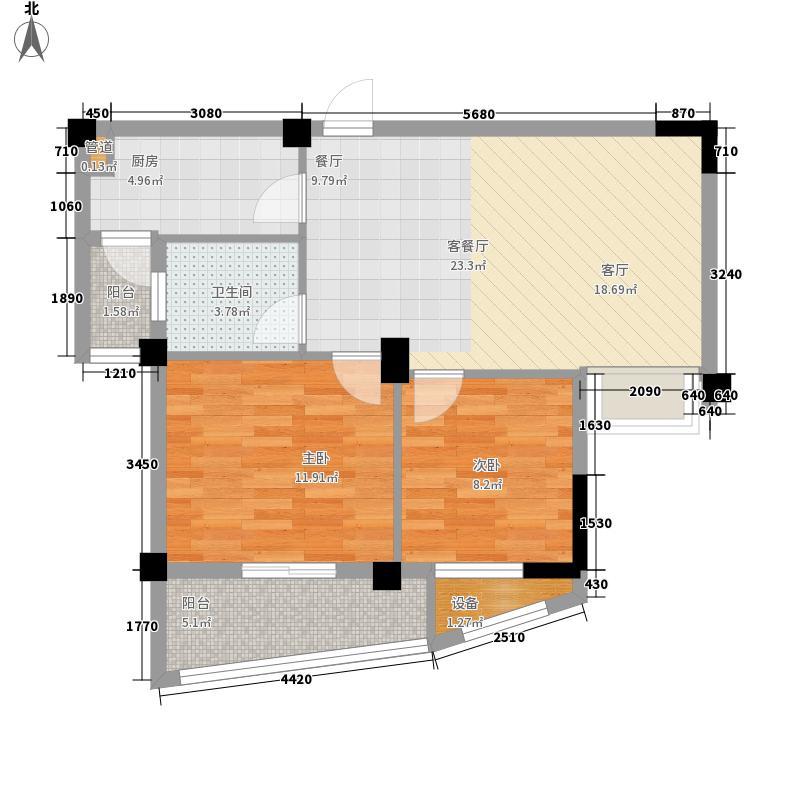 世欧彼岸城世欧彼岸城户型图C区F1正面C3#2室2厅1卫1厨户型2室2厅1卫1厨
