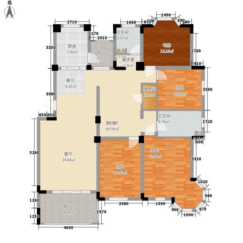 莱茵苑176.05㎡莱茵苑户型图A4室3厅2卫1厨户型4室3厅2卫1厨