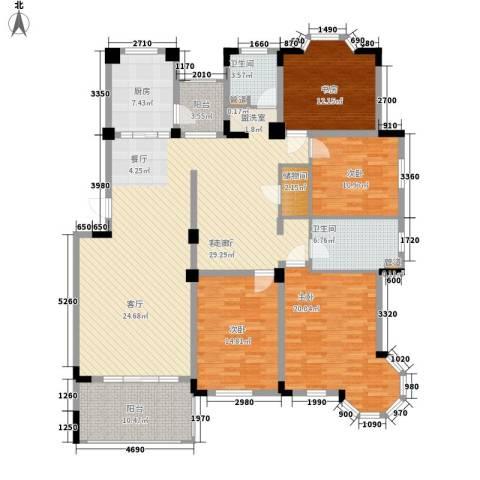 莱茵苑4室1厅2卫1厨176.00㎡户型图