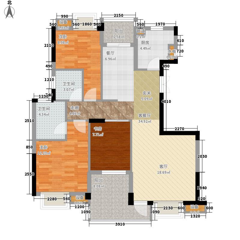 世欧彼岸城世欧彼岸城户型图户型正面A5#H13室2厅2卫1厨户型3室2厅2卫1厨