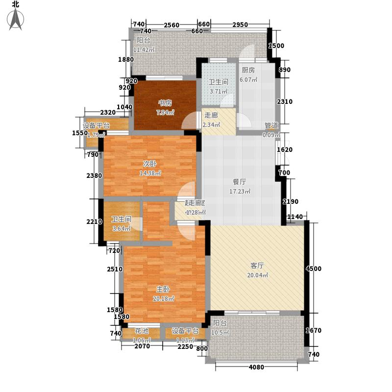 洋丰圣乔维斯118.30㎡一期洋房10号楼标准层B4户型