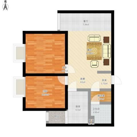 广丰花园2室1厅1卫1厨90.00㎡户型图