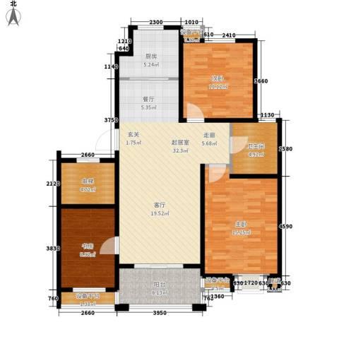 滨湖御景湾3室0厅1卫1厨129.00㎡户型图