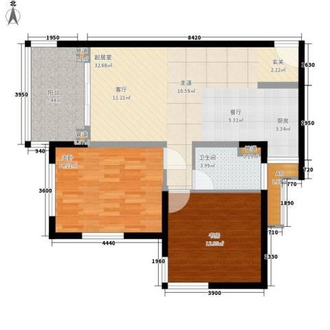 石梅山庄2室0厅1卫0厨93.00㎡户型图