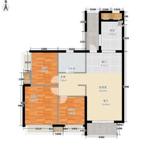国瀚城3室0厅1卫1厨107.00㎡户型图