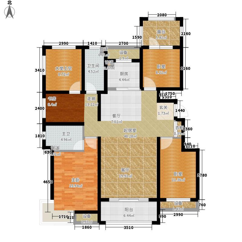 富立・秦皇半岛137.63㎡富立・秦皇半岛户型图A1偶数层4室2厅2卫户型4室2厅2卫