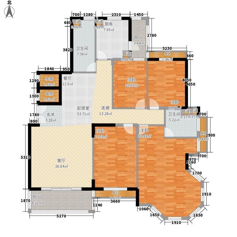 置城8号公馆184.51㎡置城8号公馆户型图B户型标准层H34室2厅2卫户型4室2厅2卫