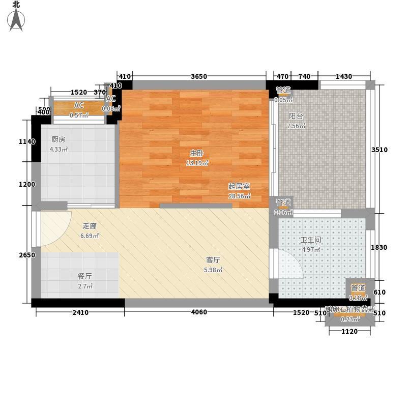 石梅山庄62.00㎡石梅山庄户型图A2户型1室2厅1卫1厨户型1室2厅1卫1厨