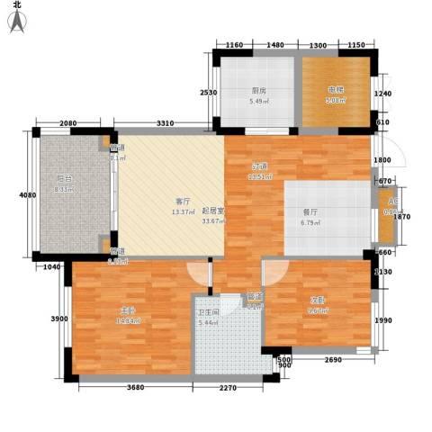 石梅山庄2室0厅1卫1厨94.00㎡户型图