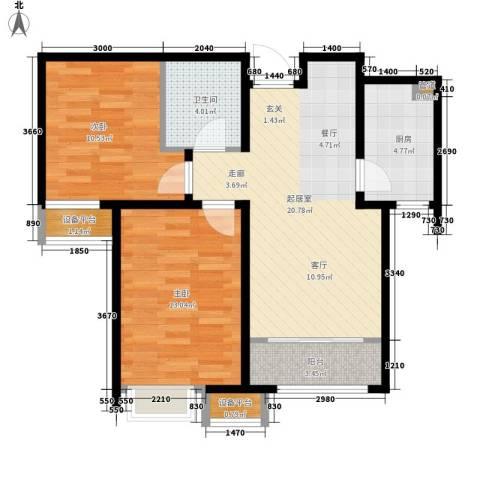 京能海与城2室0厅1卫1厨89.00㎡户型图