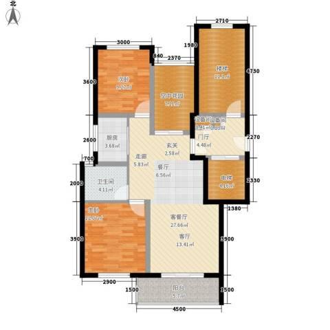 金瑞名都2室1厅1卫1厨89.90㎡户型图