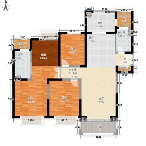 合生财富海景公馆3室1厅2卫1厨161.00㎡户型图