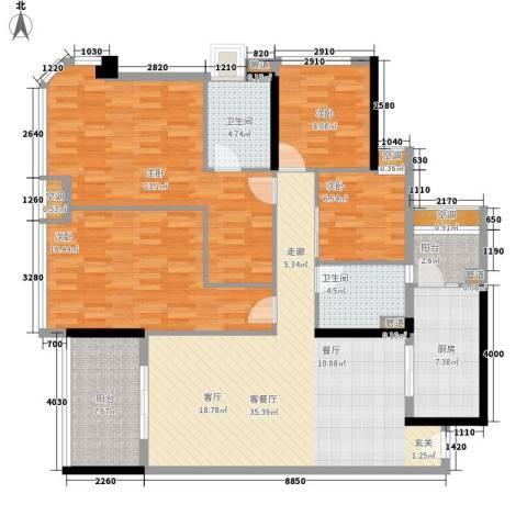 合景朗悦君庭4室1厅2卫1厨135.00㎡户型图