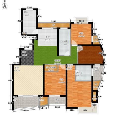 米兰公寓4室1厅2卫1厨170.00㎡户型图