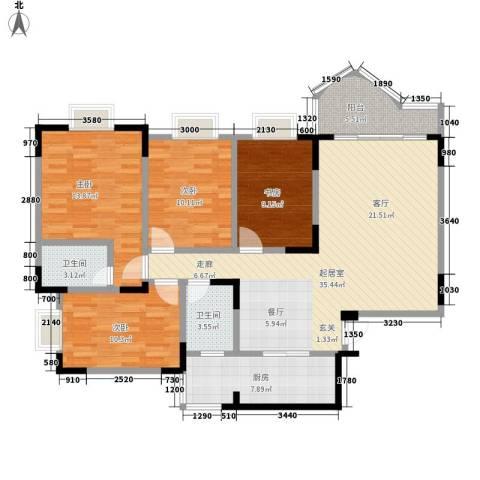 嘉新桃花里4室0厅2卫1厨119.00㎡户型图