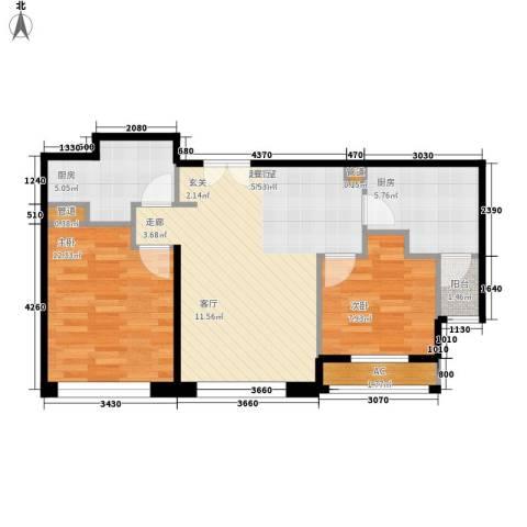 力宝广场・诗礼庭2室0厅0卫2厨88.00㎡户型图