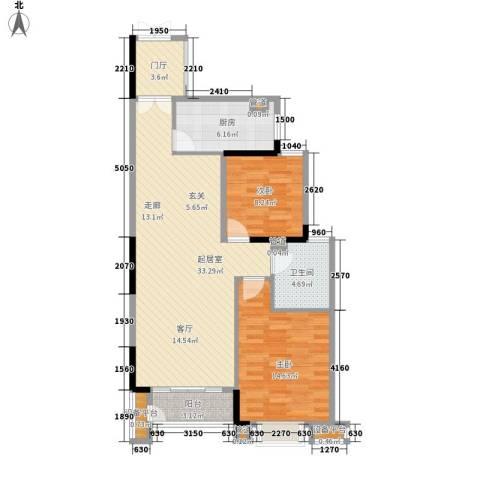角美万达广场2室0厅1卫1厨85.00㎡户型图