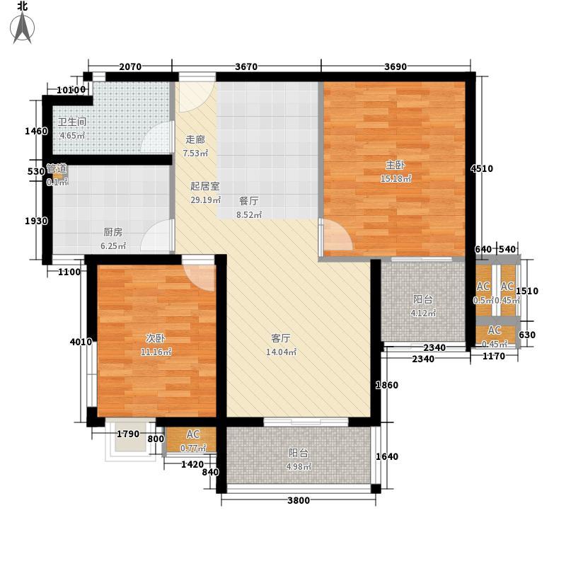 世纪银座150.00㎡世纪银座2室户型2室