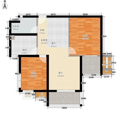 世纪银座2室0厅1卫1厨150.00㎡户型图