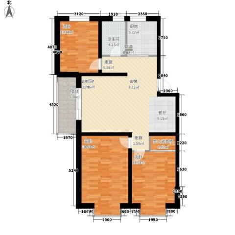 帝景豪庭3室0厅1卫1厨133.00㎡户型图