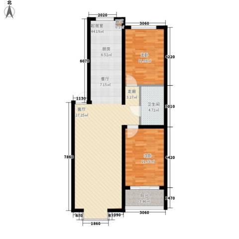 帝景豪庭2室0厅1卫0厨107.00㎡户型图