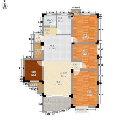 紫金山庄4室0厅1卫1厨115.00㎡户型图