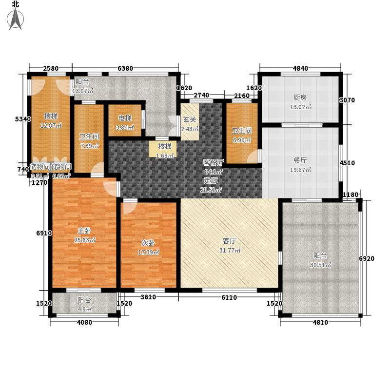 国华印象宽景洋房C下层户型6室2厅