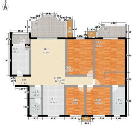 神仙树大院(高新)4室0厅3卫1厨178.00㎡户型图