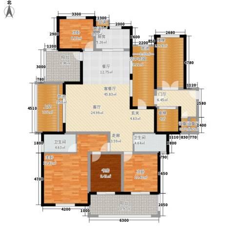 金瑞名都4室1厅2卫1厨175.09㎡户型图