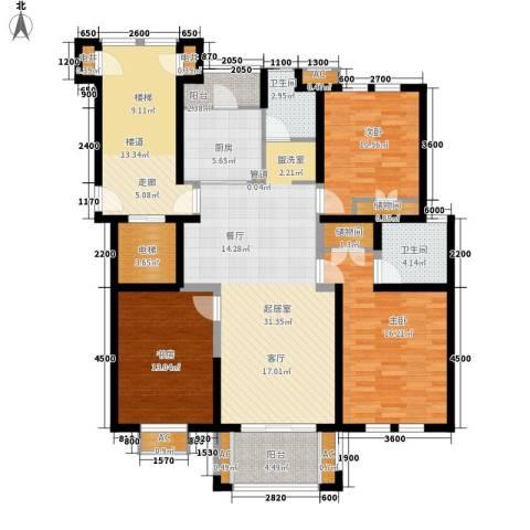 明媚星城3室0厅2卫1厨118.00㎡户型图