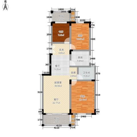 东南雅苑3室0厅1卫1厨106.00㎡户型图