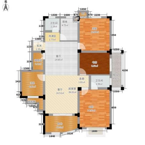 紫金山庄4室0厅2卫1厨116.00㎡户型图