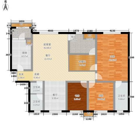 神仙树大院(高新)3室0厅3卫1厨161.00㎡户型图