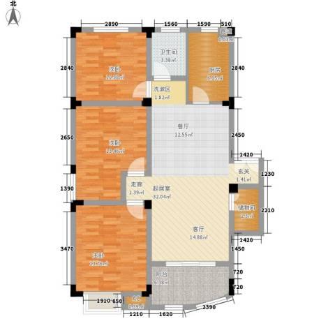 紫金山庄3室0厅1卫1厨107.00㎡户型图