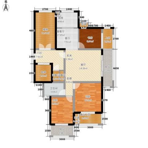 金瑞名都3室1厅1卫1厨104.91㎡户型图