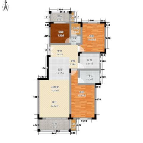 东南雅苑3室0厅2卫1厨120.00㎡户型图