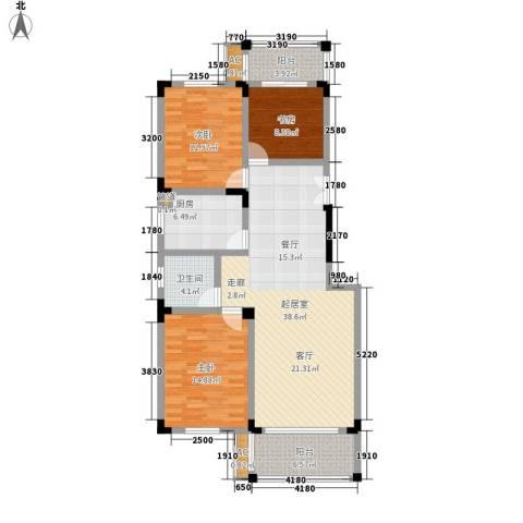 东南雅苑3室0厅1卫1厨112.00㎡户型图