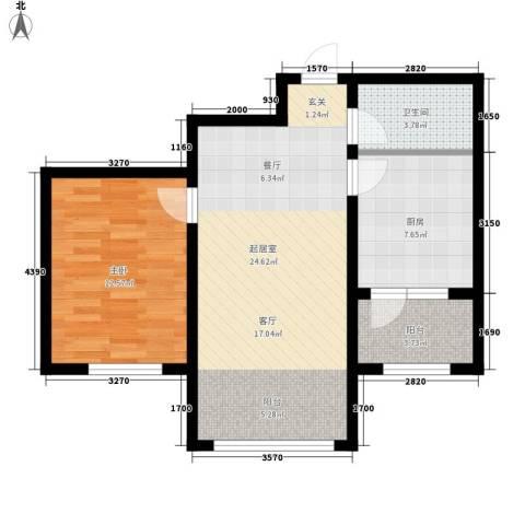 绿色新城二期嘉苑1室0厅1卫1厨60.00㎡户型图