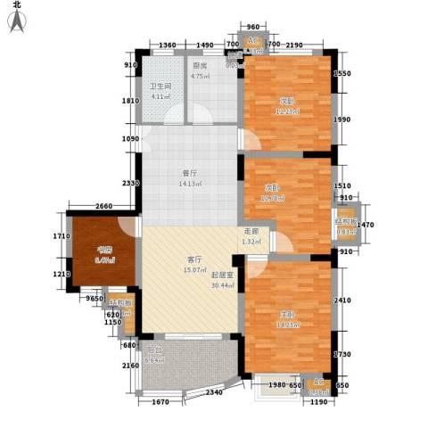 紫金山庄4室0厅1卫1厨112.00㎡户型图