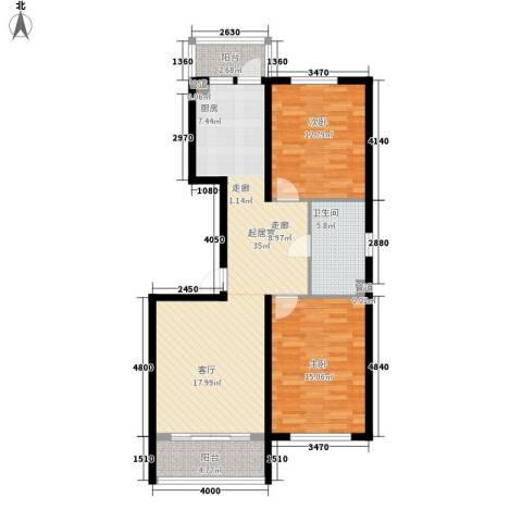绿色新城二期嘉苑2室0厅1卫0厨99.00㎡户型图