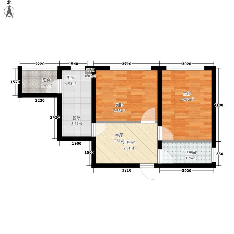 绿色新城二期嘉苑65.00㎡绿色新城二期嘉苑户型图M户型图2室1厅1厨户型2室1厅1厨