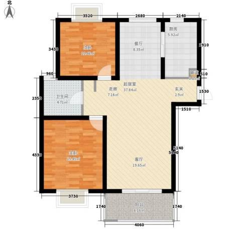 明中龙祥家园2室0厅1卫1厨112.00㎡户型图