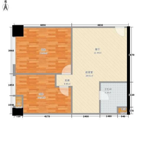 弘林国际2室0厅1卫0厨89.00㎡户型图