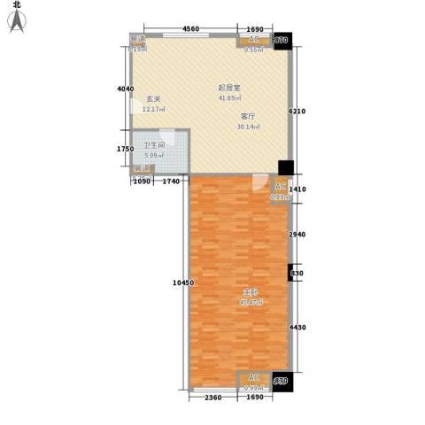 弘林国际1室0厅1卫0厨128.00㎡户型图
